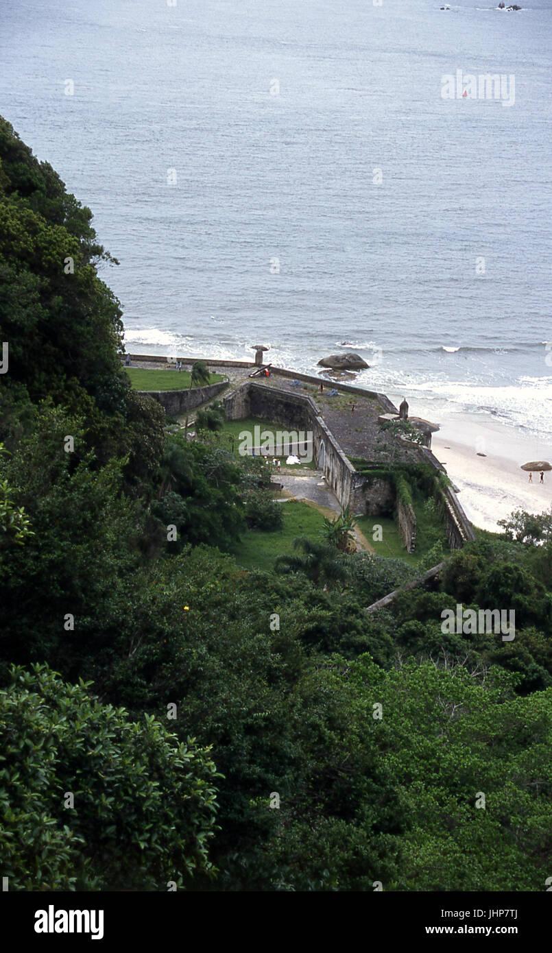 Viewpoint of the fortress Nossa Senhora dos Prazeres; Ilha do Mel; Paraná; Brazil Stock Photo