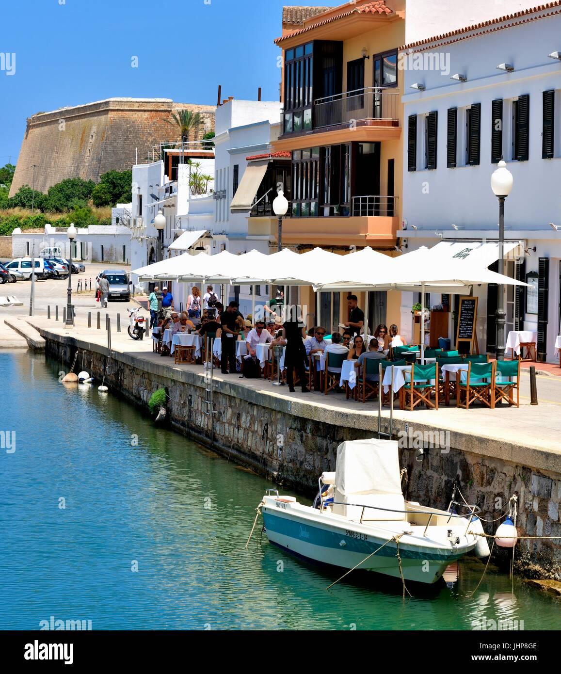 Ciutadella Restaurant outside Menorca Minorca - Stock Image