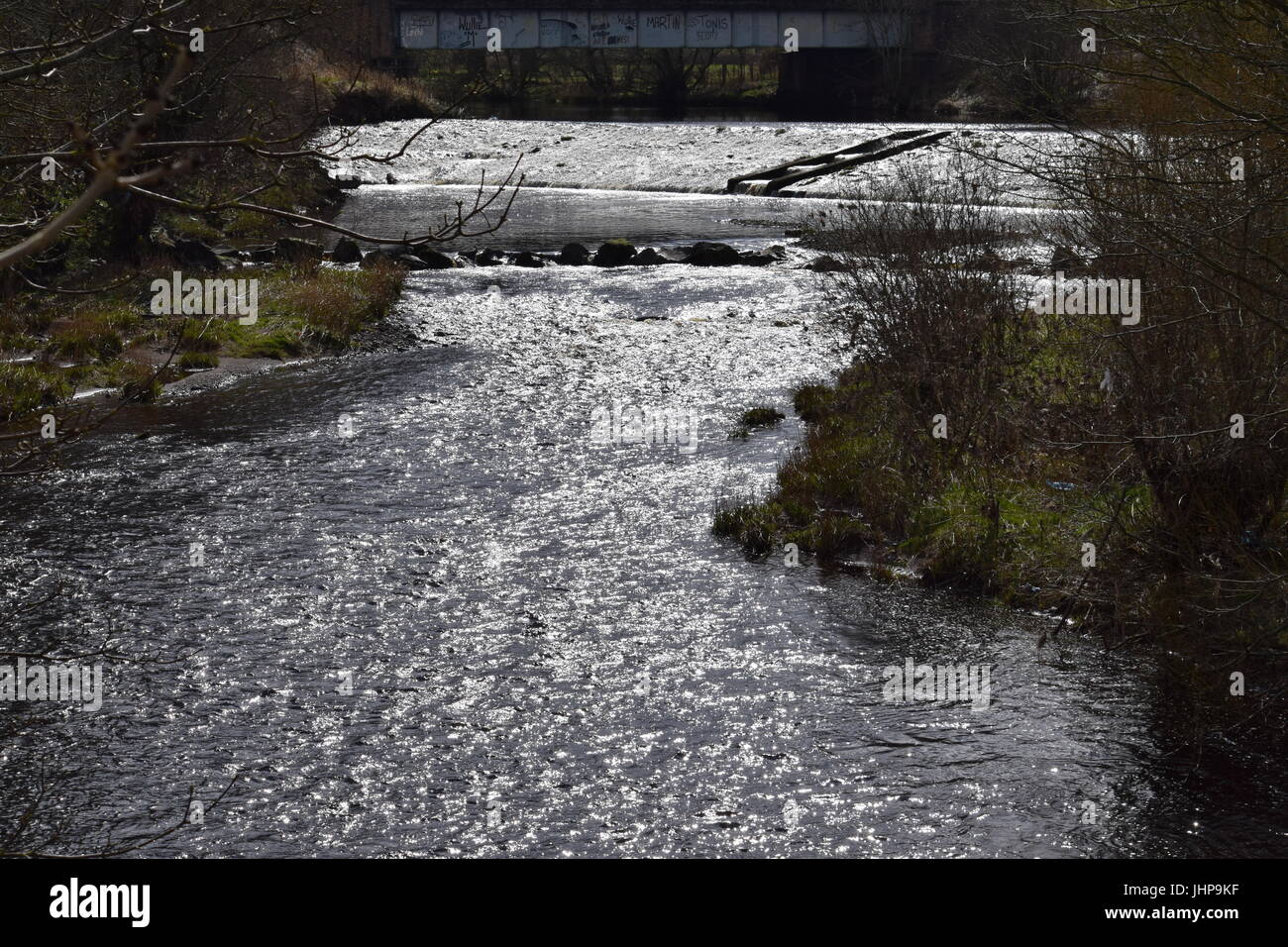 River over a weit - Stock Image
