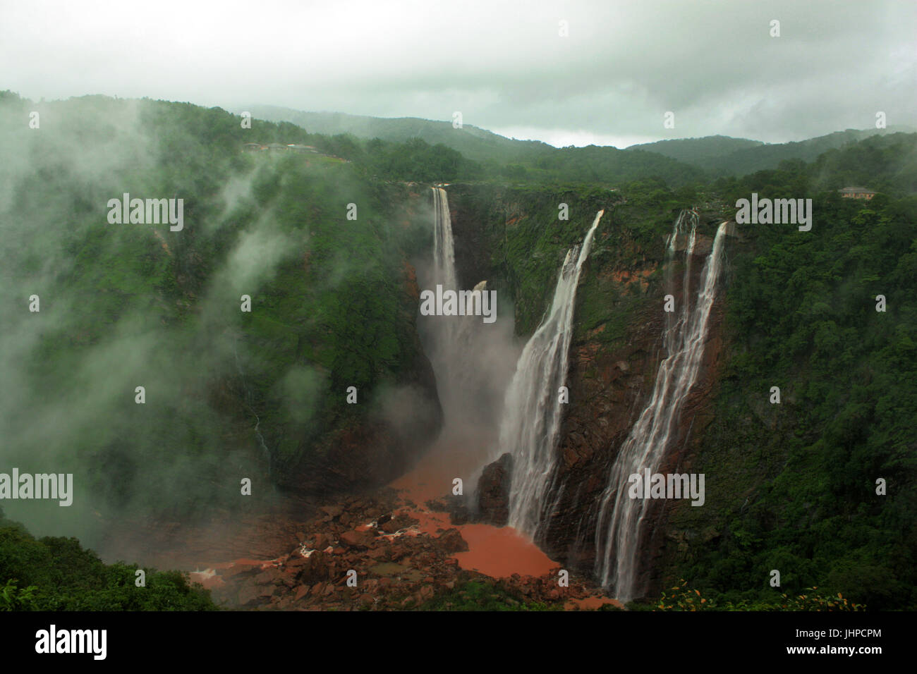 Jog Falls, Shimoga, Karnataka, India - Stock Image