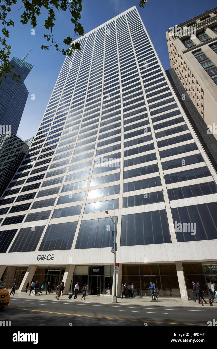 W R Grace building New York City USA - Stock Image
