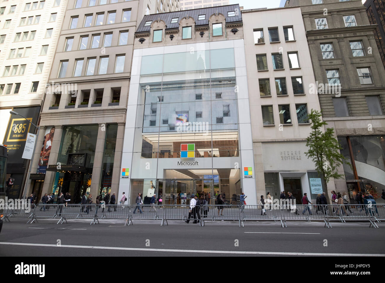 microsoft new york city flagship store fifth avenue New York City USA - Stock Image