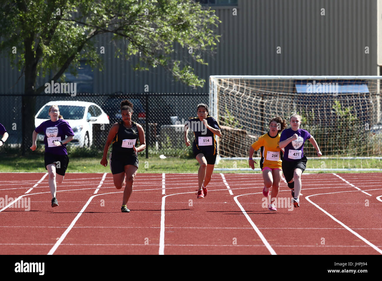 Team London Special Olympics in Brantford Ontario 2017 - Stock Image