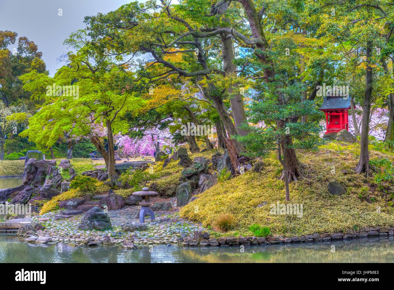 The Koishikawa Kōrakuen Gardens in Bunkyo, Tokyo, Japan. - Stock Image