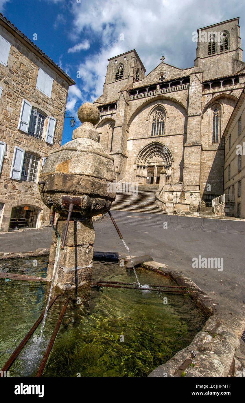 Abbey Church Of Saint Robert La Chaise Dieu Haute Loire Auvergne France