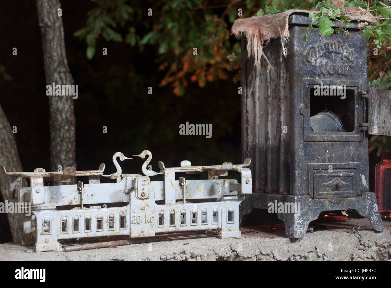 antique stuff and things - Stock Image