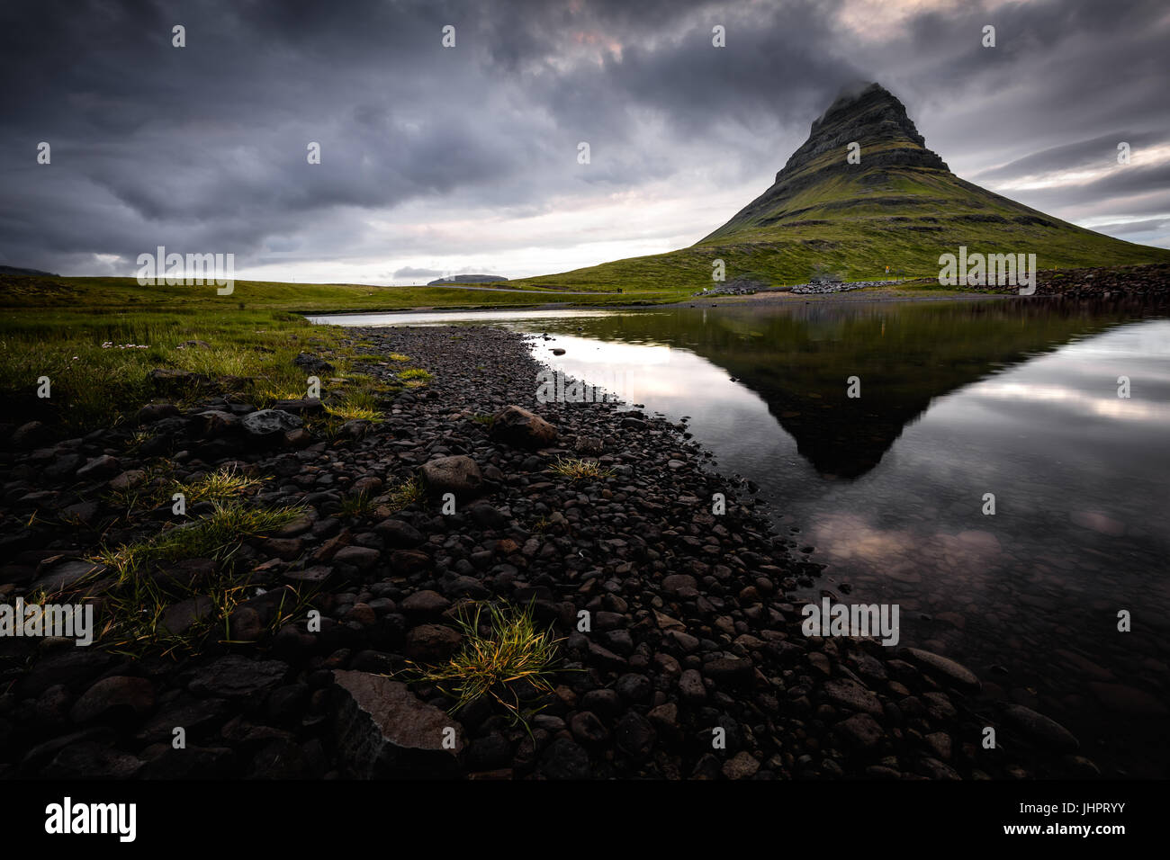 Kirkjufell in Iceland - Stock Image