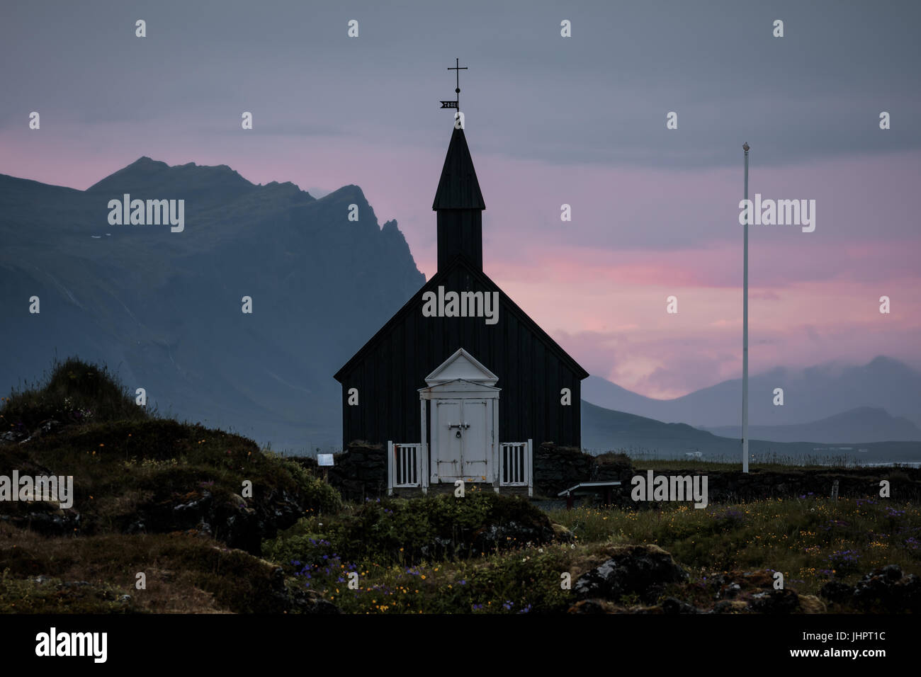 The Black Church in Iceland - Stock Image