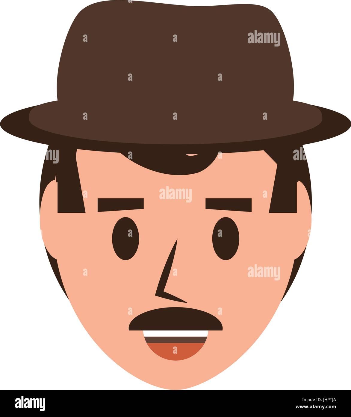 Retro Man cartoon - Stock Image