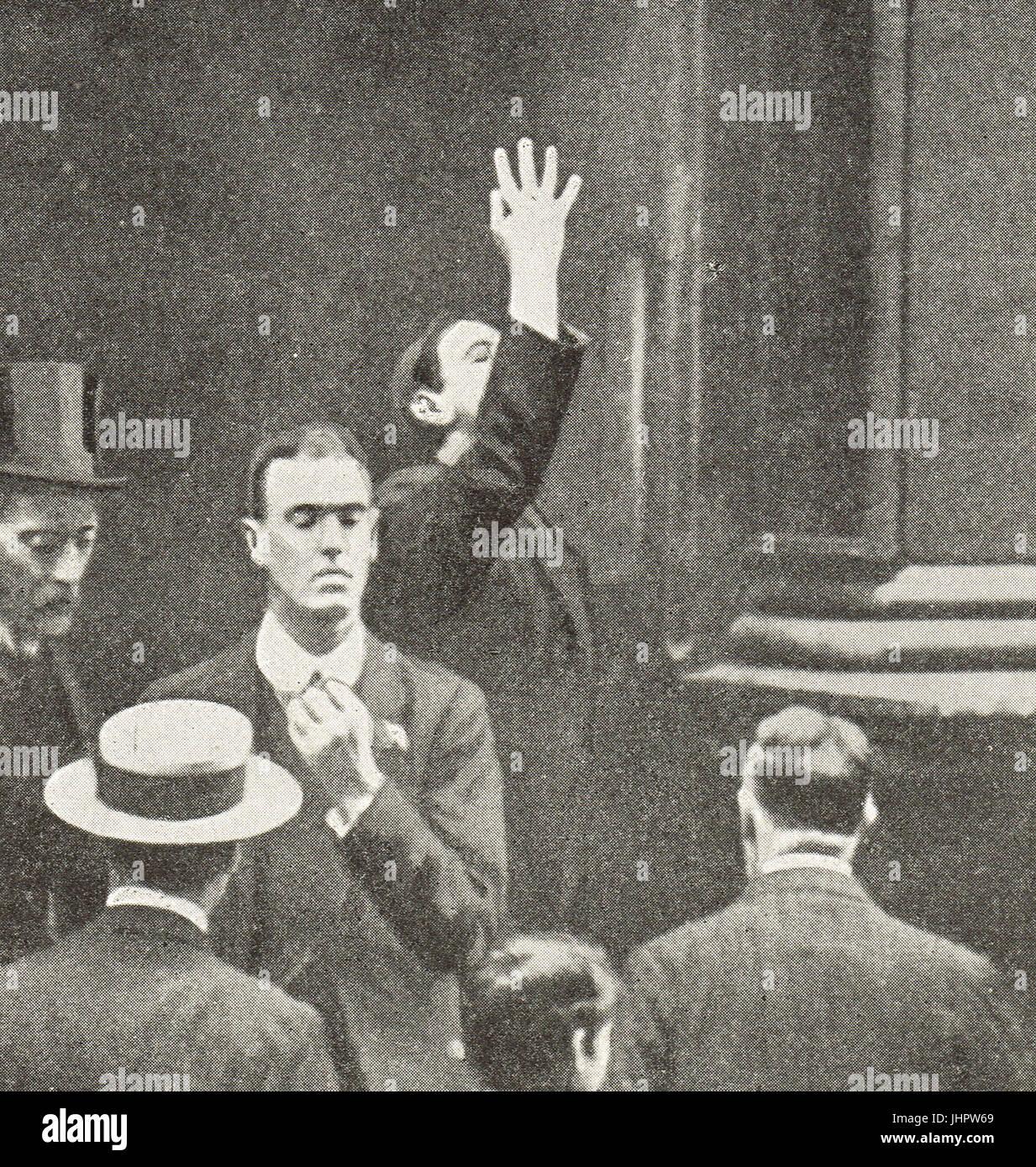 Financial crisis, England, July 1914 - Stock Image