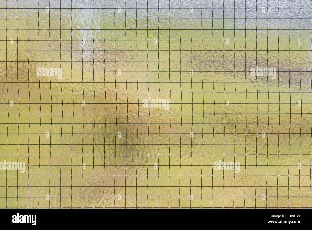 wire mesh glass - Stock Image