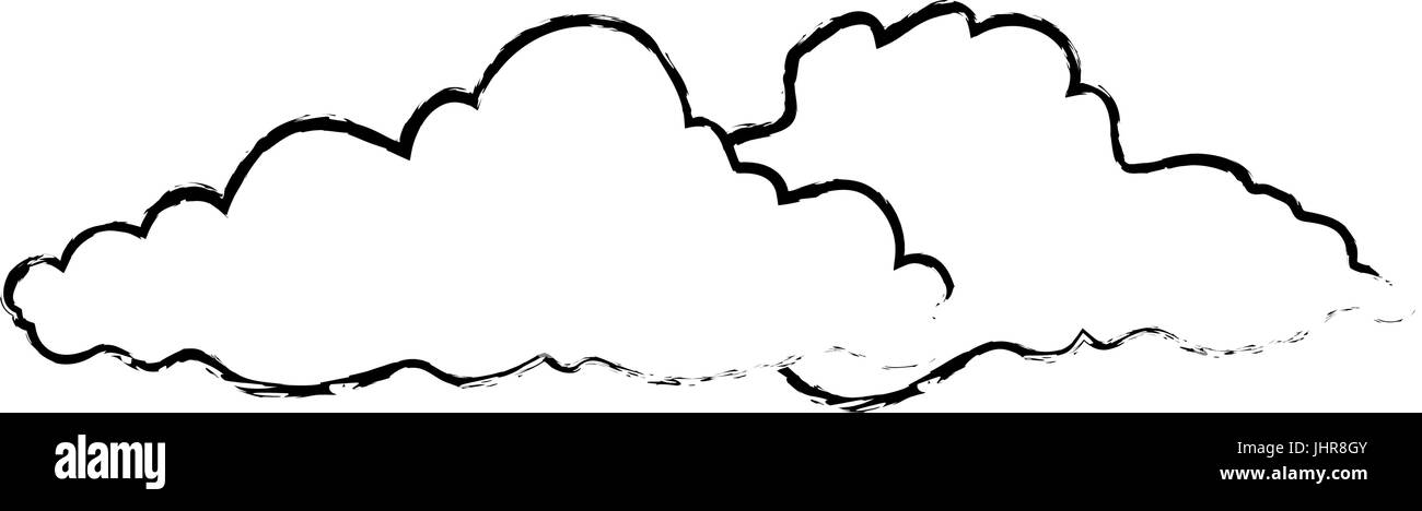 clouds icon over white background vector illustration - Stock Image
