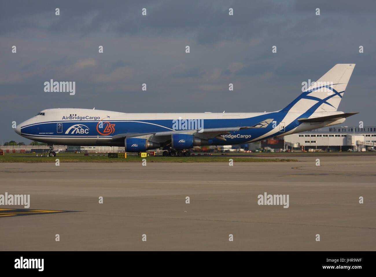 BOEING 747 AIR BRIDGE CARGO - Stock Image
