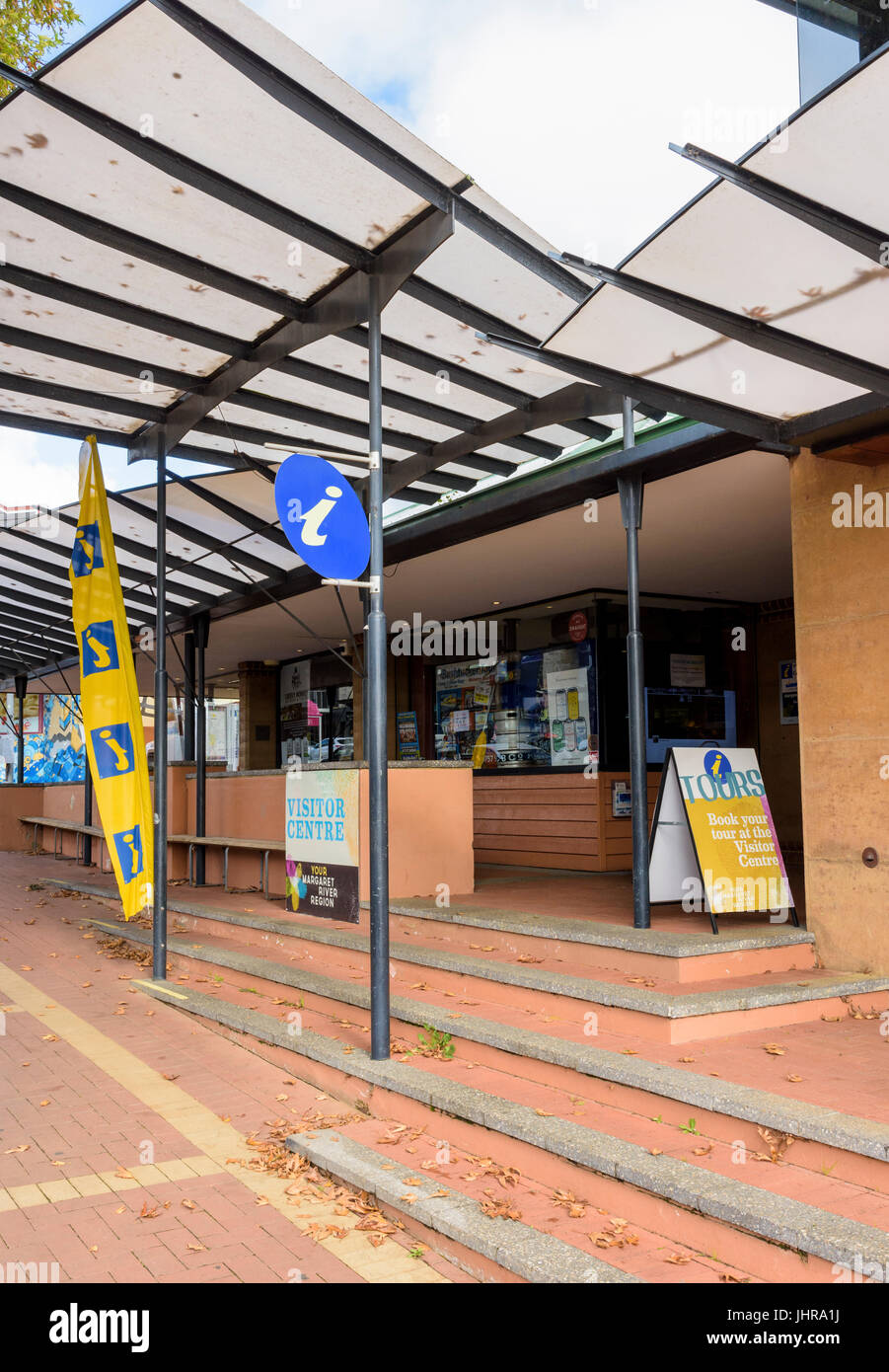 Margaret River Visitor Centre in Margaret River town, Western Australia - Stock Image