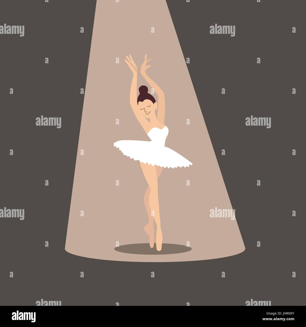 Ballerina icon. - Stock Vector