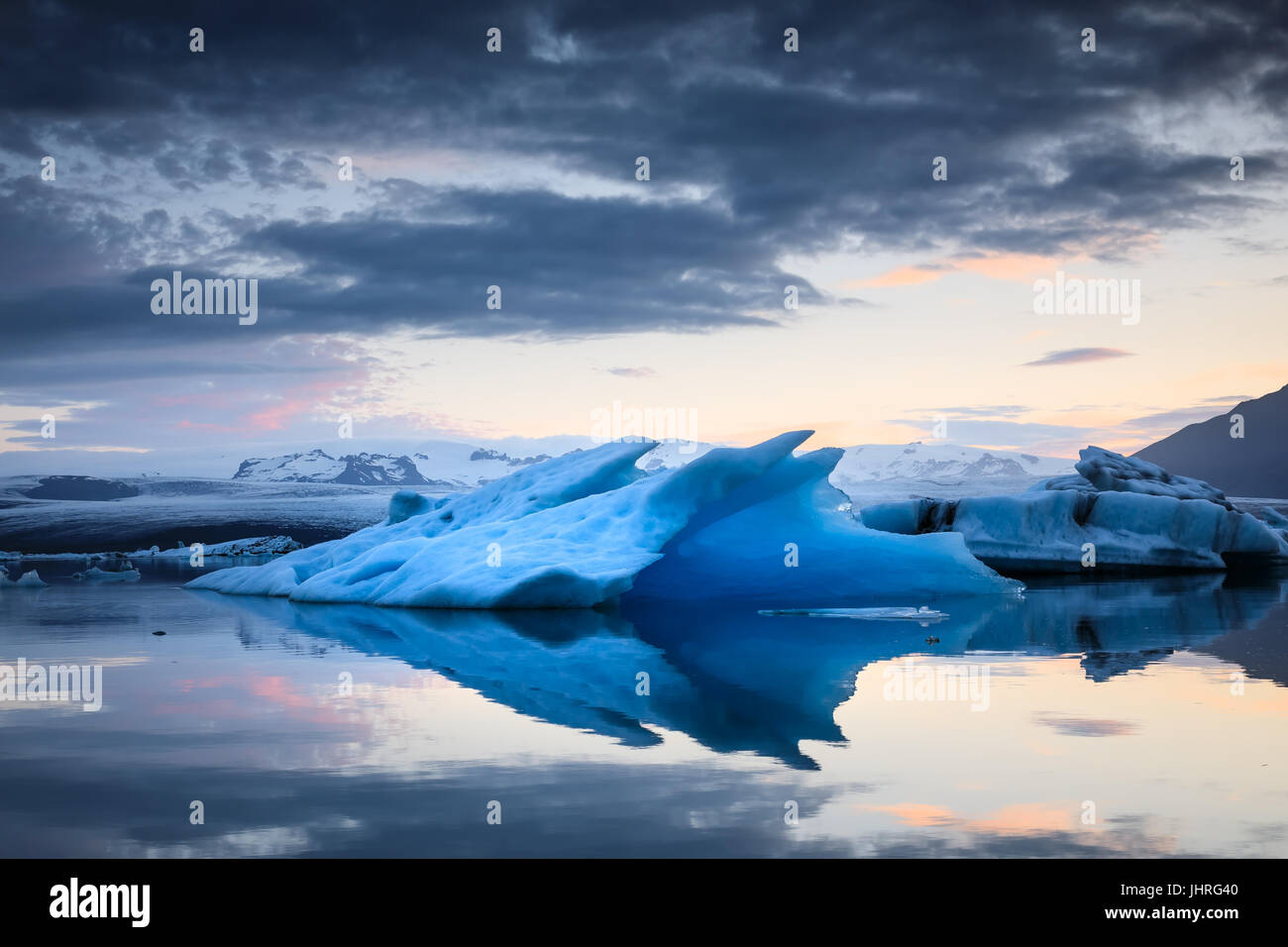Ice Lagoon in Iceland - Stock Image
