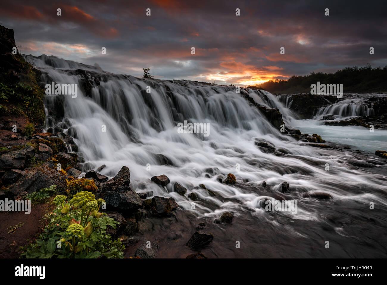 Bruarfoss in Iceland - Stock Image