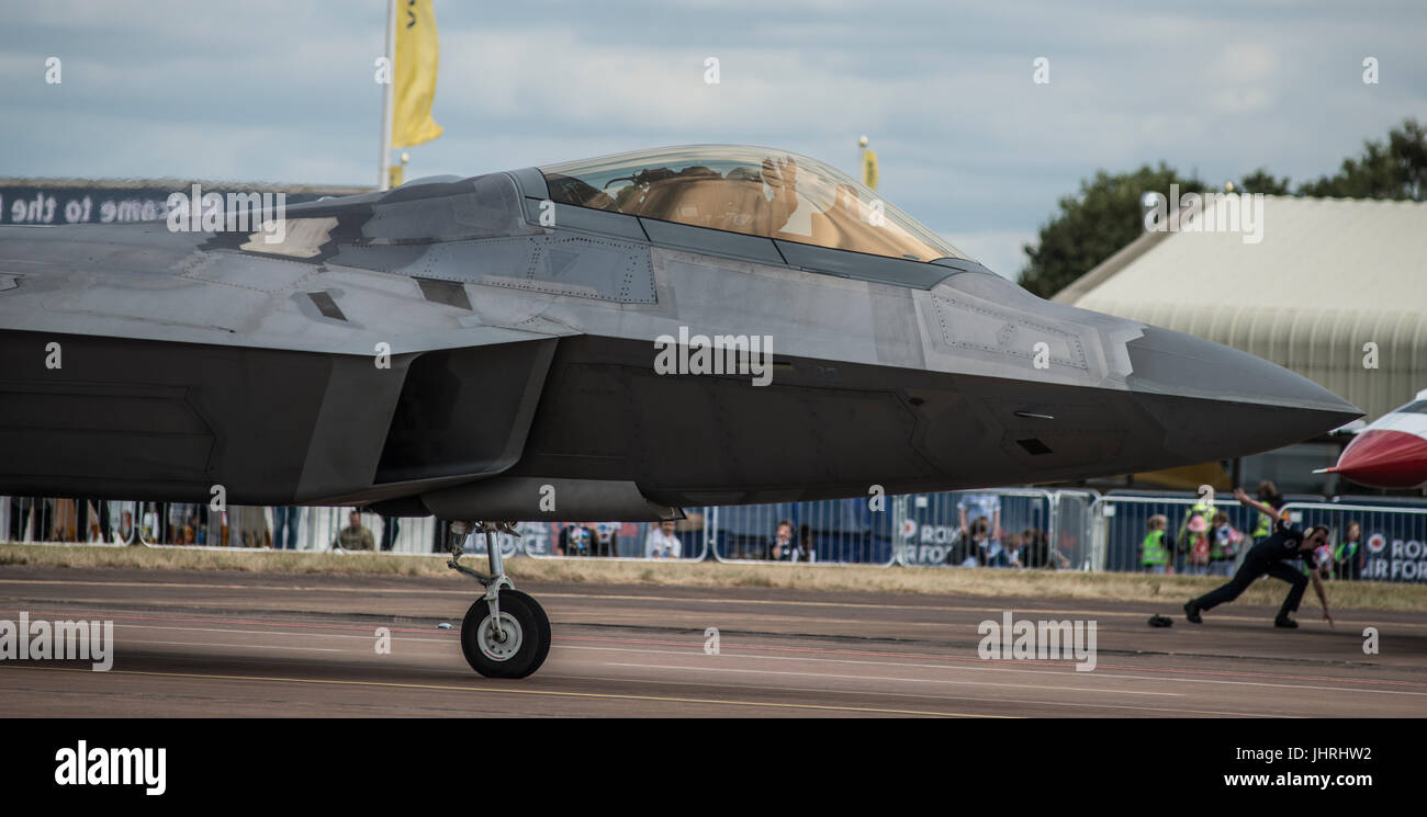 The 2017 Royal International Air Tattoo, RIAT17, RAF Fairford, Gloucestershire, England - one of the world's largest - Stock Image
