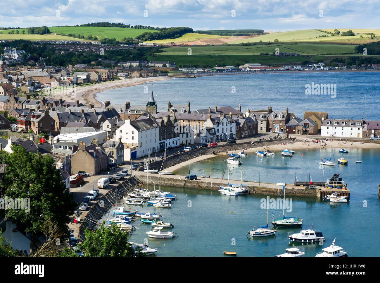 View across Stonehaven harbour, Aberdeenshire, Scotland. - Stock Image