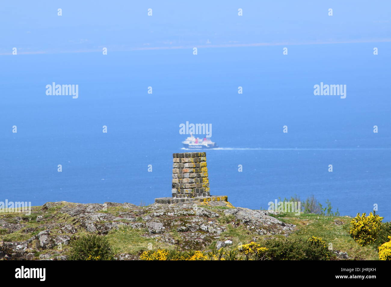 Cairn on Carrick Hill - Stock Image