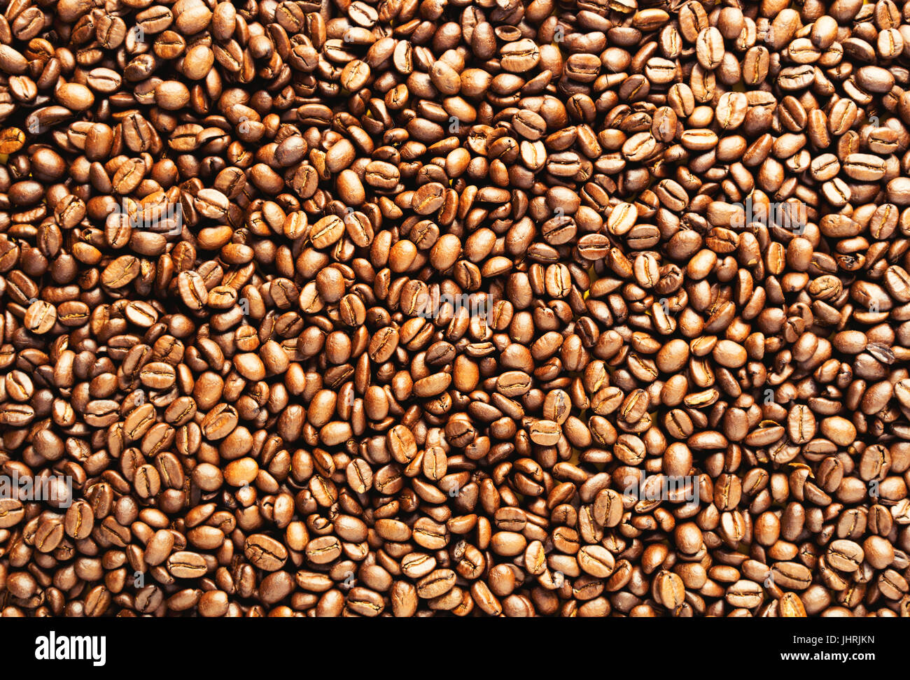Coffee bean background. Roasted coffee beans background. - Stock Image