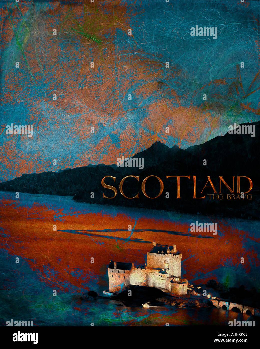 DIGITAL ART: Scotland The Brave - Stock Image