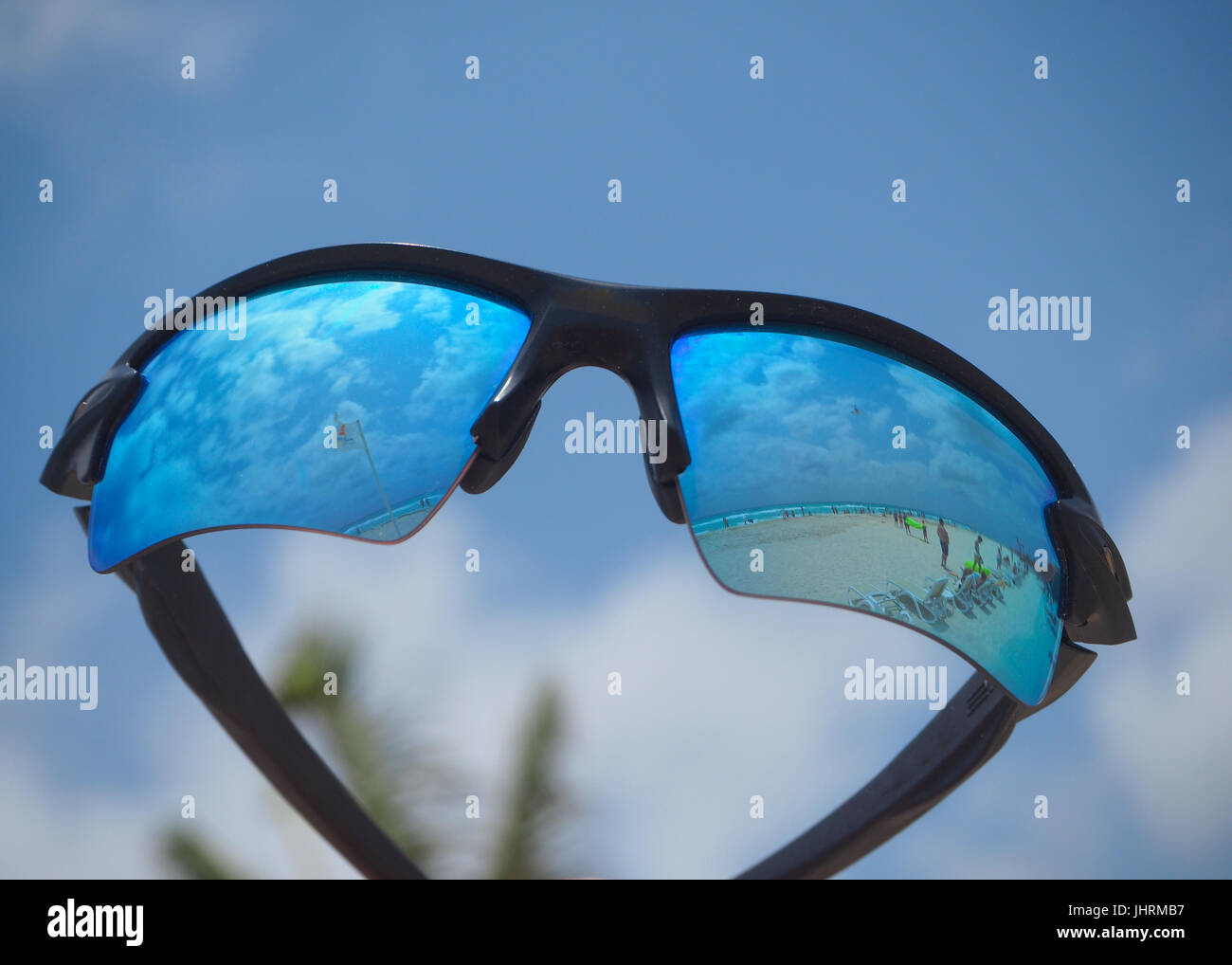 Blue sunglasses - Stock Image