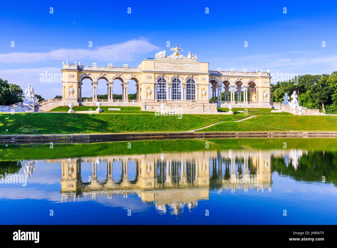Vienna, Austria. The Gloriette pavilion in the Schonbrunn Palace Garden - Stock Image