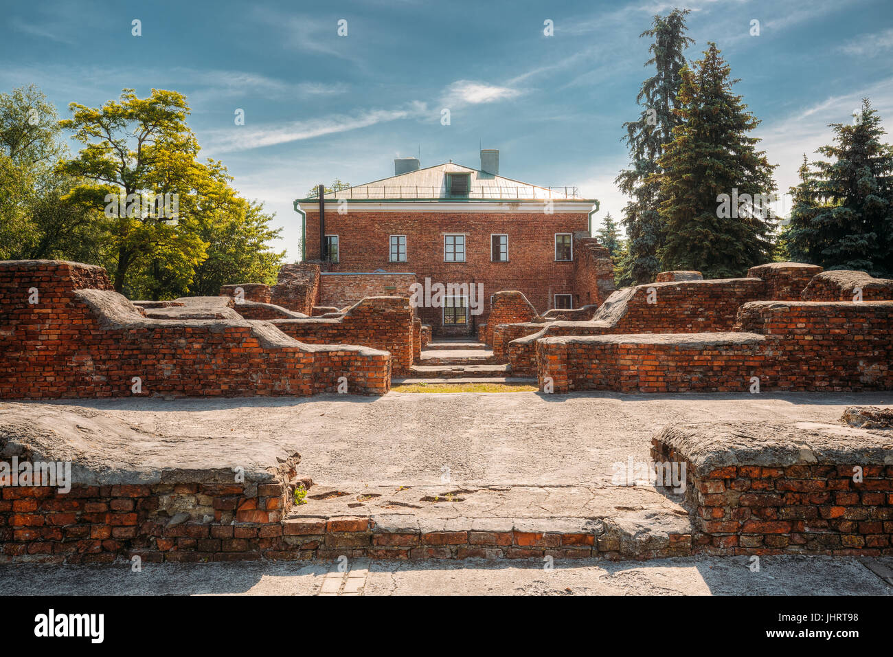 Brest, Belarus. Ruins Of Barracks On Territory Of Brest Fortress In Sunny Summer Day. Brest Hero-fortress Was The - Stock Image