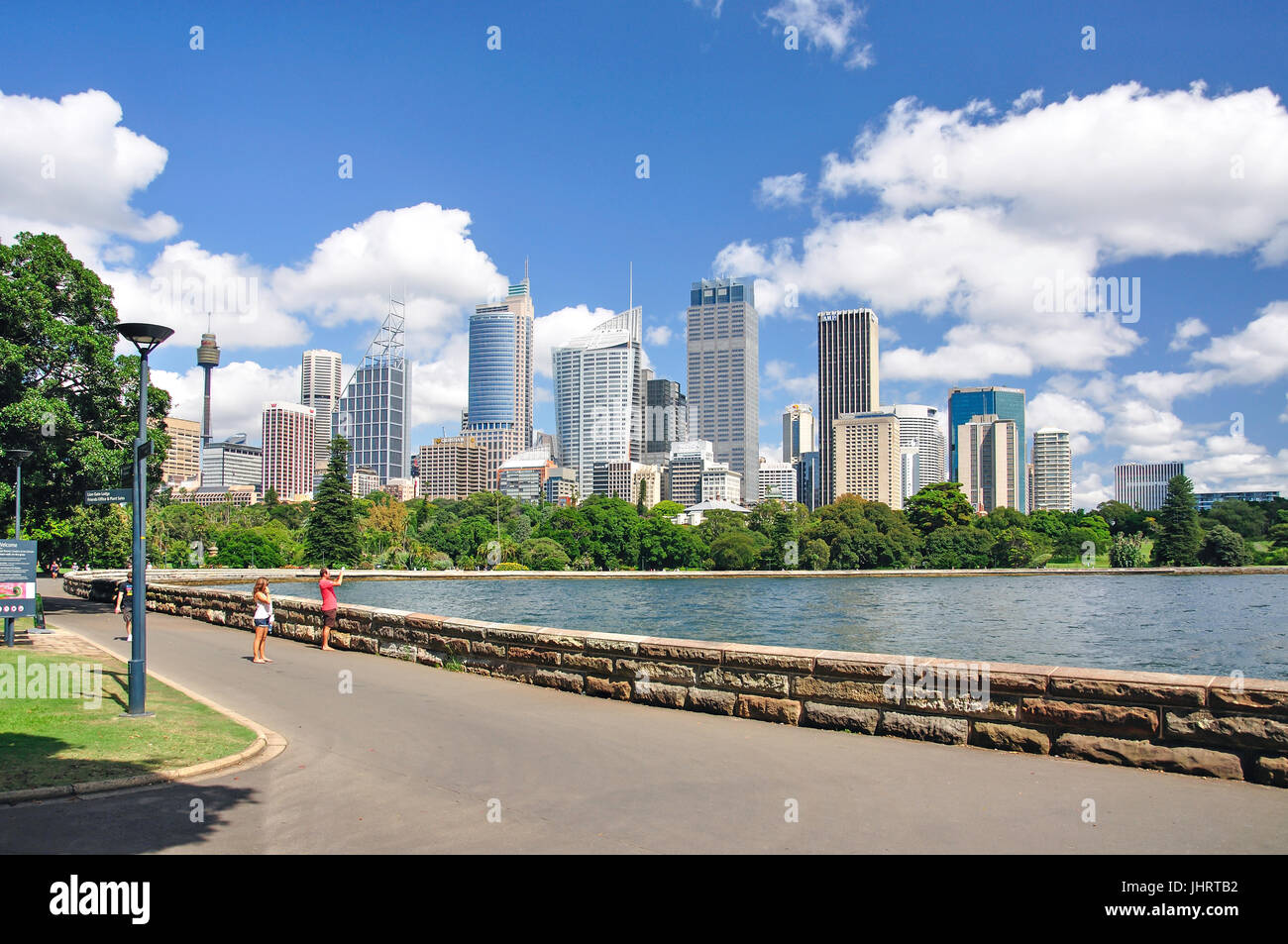 Central Business District from Royal Botanic Gardens, Farm Cove, Sydney, New South Wales, Australia - Stock Image
