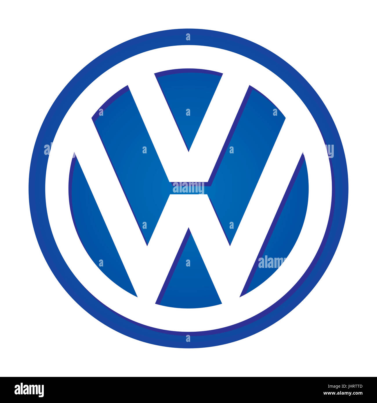 VW Volkswagen Company Logo Automarke Deutscher Automobile Group DAX 30 Companies