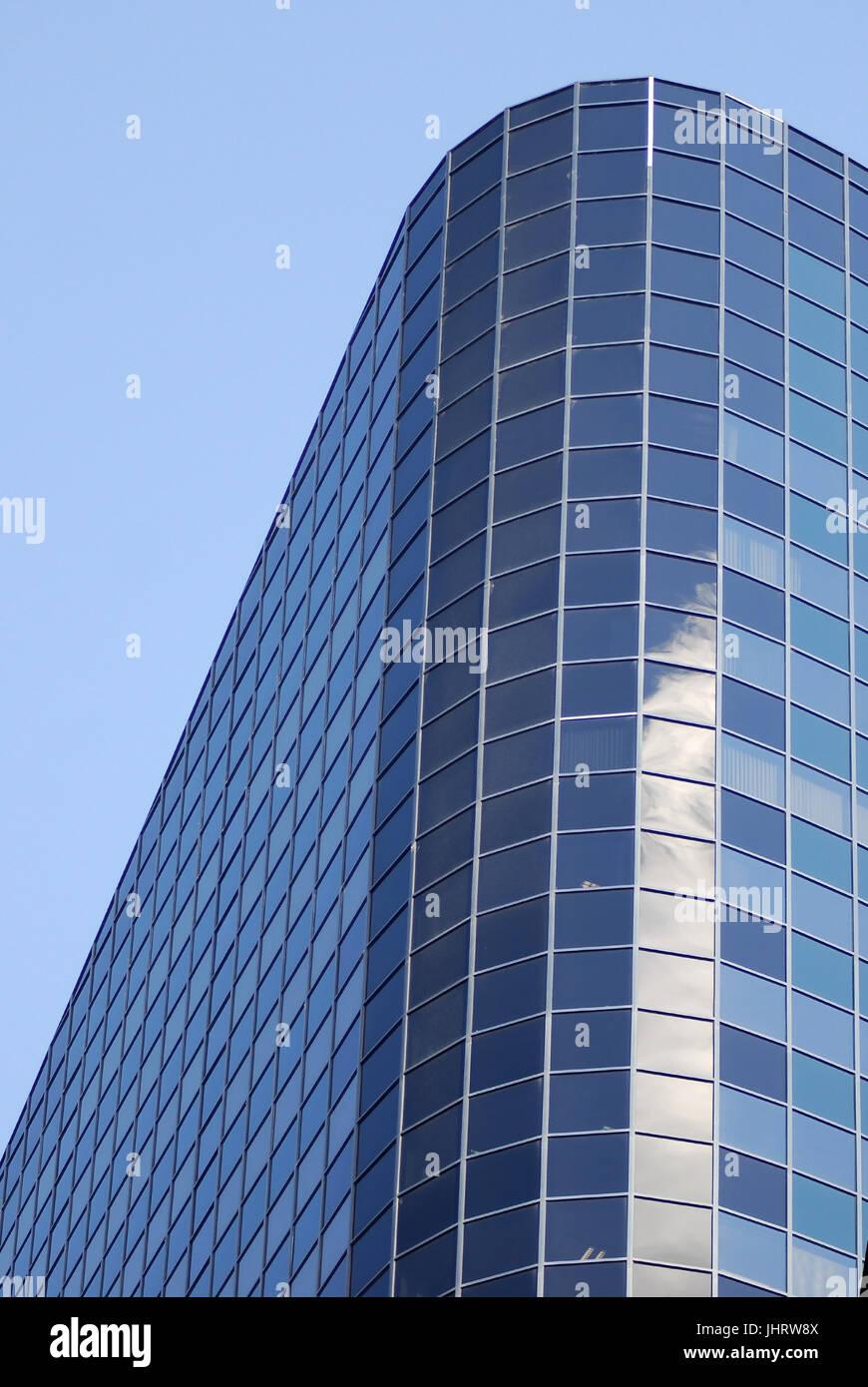 Skyscraper office building - high rise, Wolkenkratzer- Buerogebaeude - Hochhaus - Stock Image