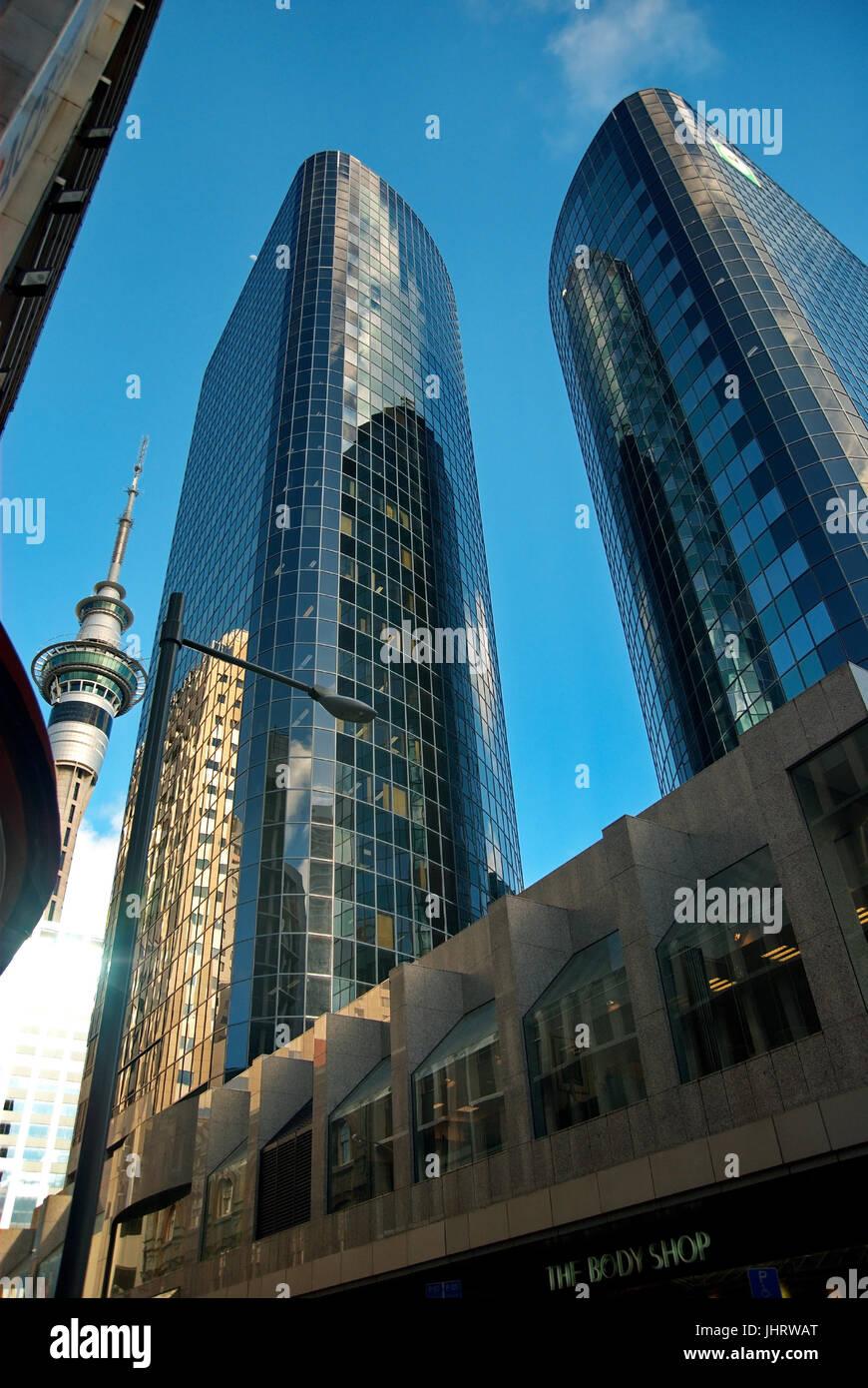 Skyscraper in Auckland, Wolkenkratzer in Auckland - Stock Image