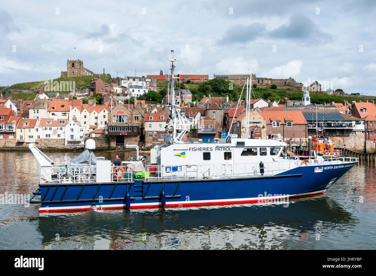 North Eastern Guardian III, a fisheries patrol vessel of the UK Inshore Fisheries and Conservation Authority, in - Stock Image