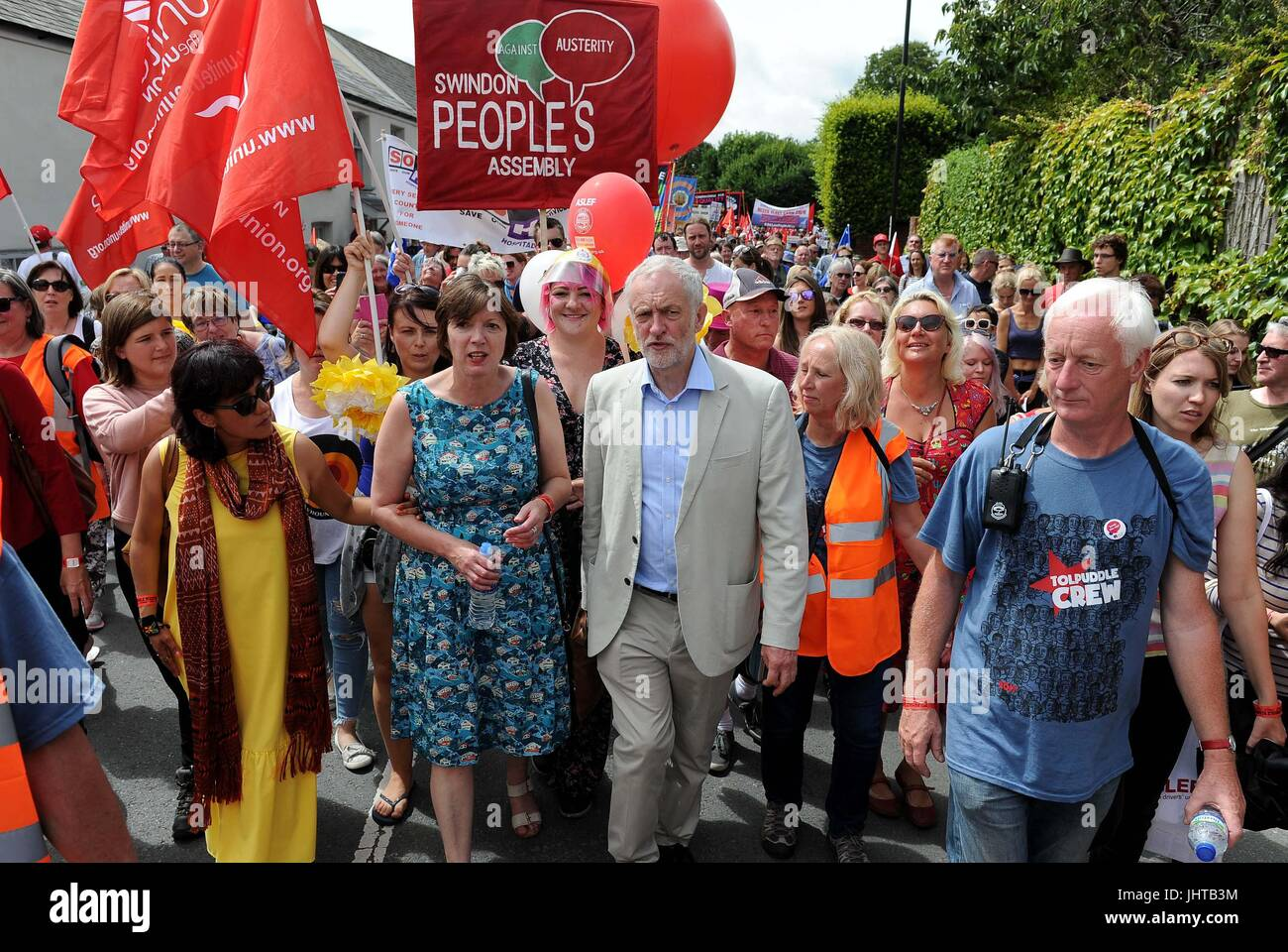 Jeremy Corbyn MP, Labour leader and Frances O'Grady, General Secretary of the British Trades Union Congress - Stock Image