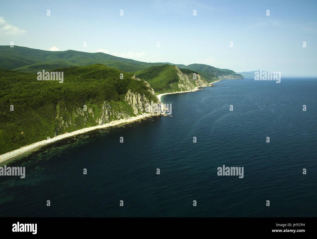 PRIMORYE TERRITORY, RUSSIA – JUNE 29, 2017: Sea of Japan coast at the Sikhote-Alin Nature Reserve in Russian Far Stock Photo