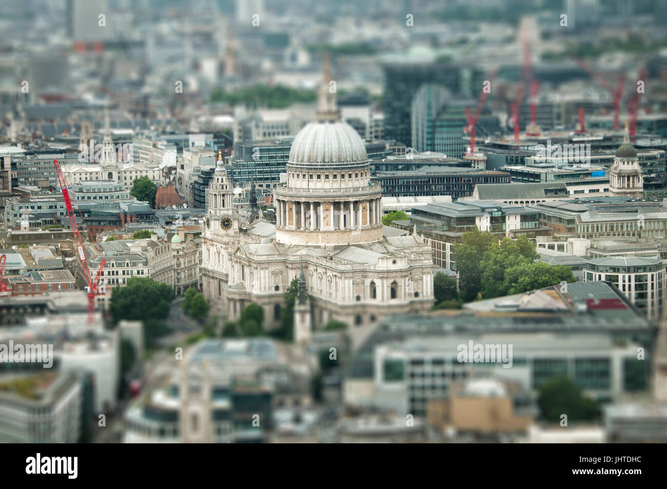 St Paul's Cathedral and West London from above Stock Photo