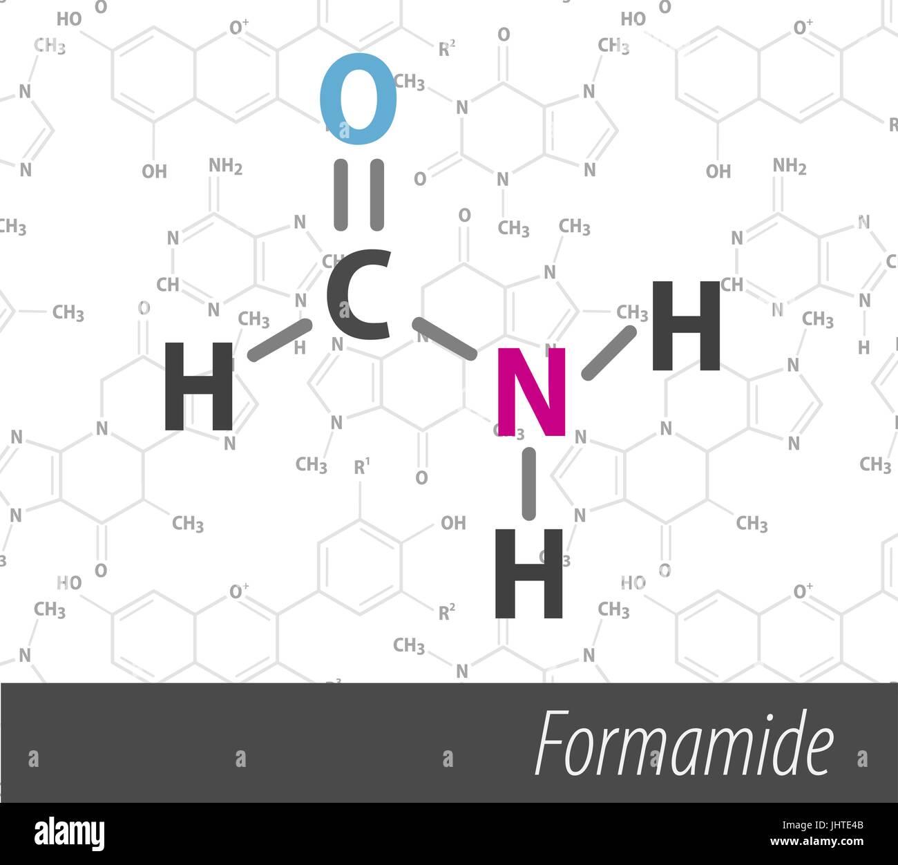 Set of chemistri orgnick formulas - Stock Image