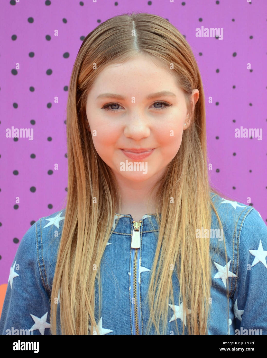 Ella Anderson attends 2017 Nickelodeon Kids' Choice Sports Awards Pauley Pavilion Los Angeles,California July 13,2017. Stock Photo