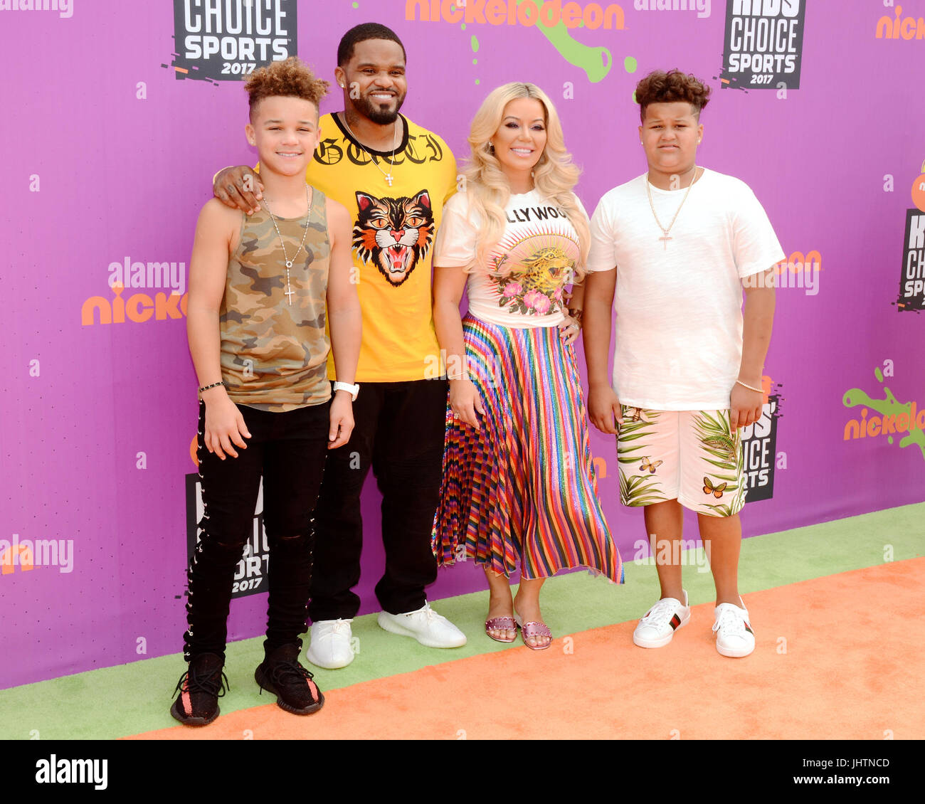 Prince Fielder attends 2017 Nickelodeon Kids' Choice Sports Awards Pauley Pavilion Los Angeles,California July - Stock Image