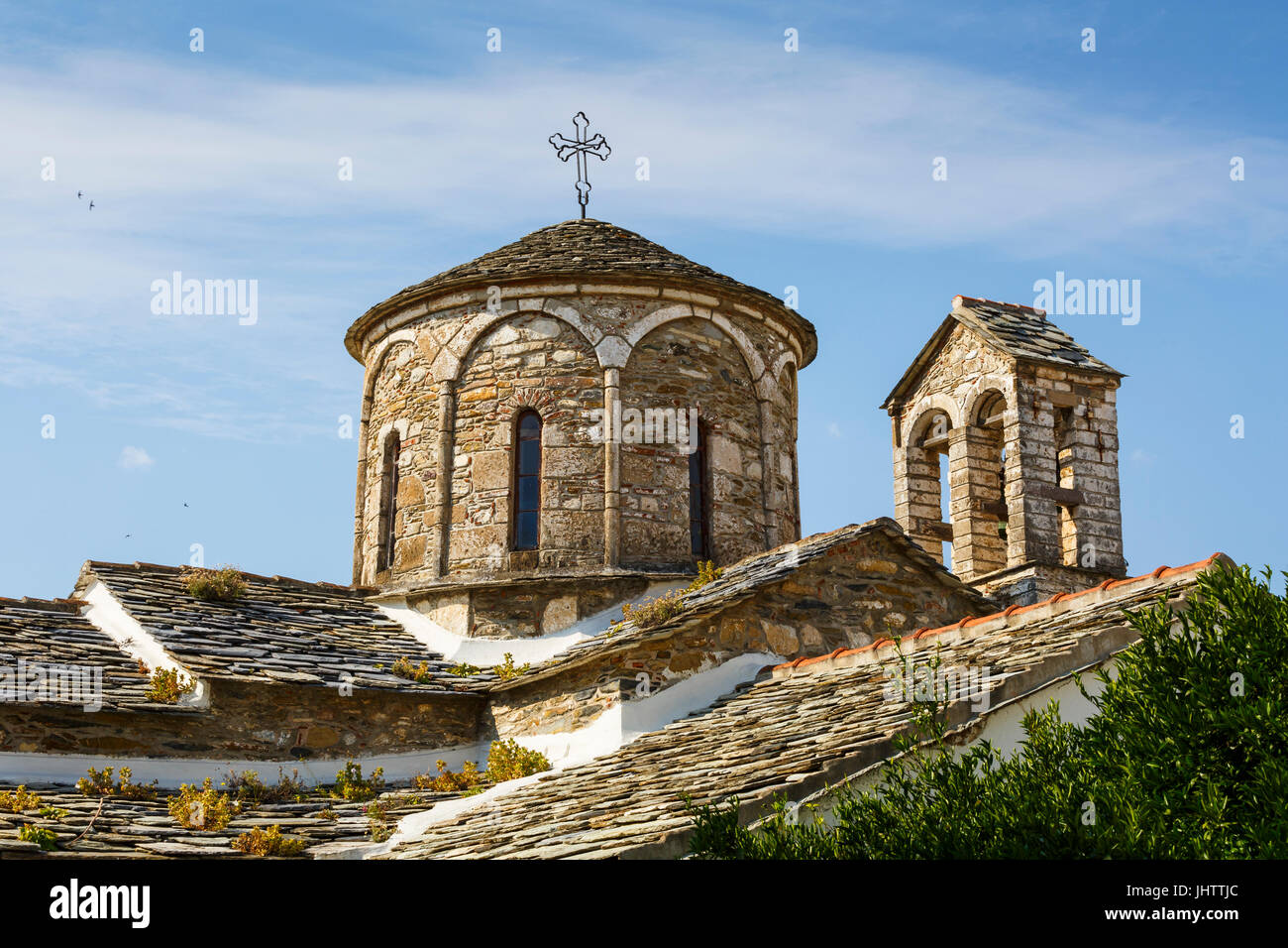 Church in the old town of Skopelos, Greece. - Stock Image