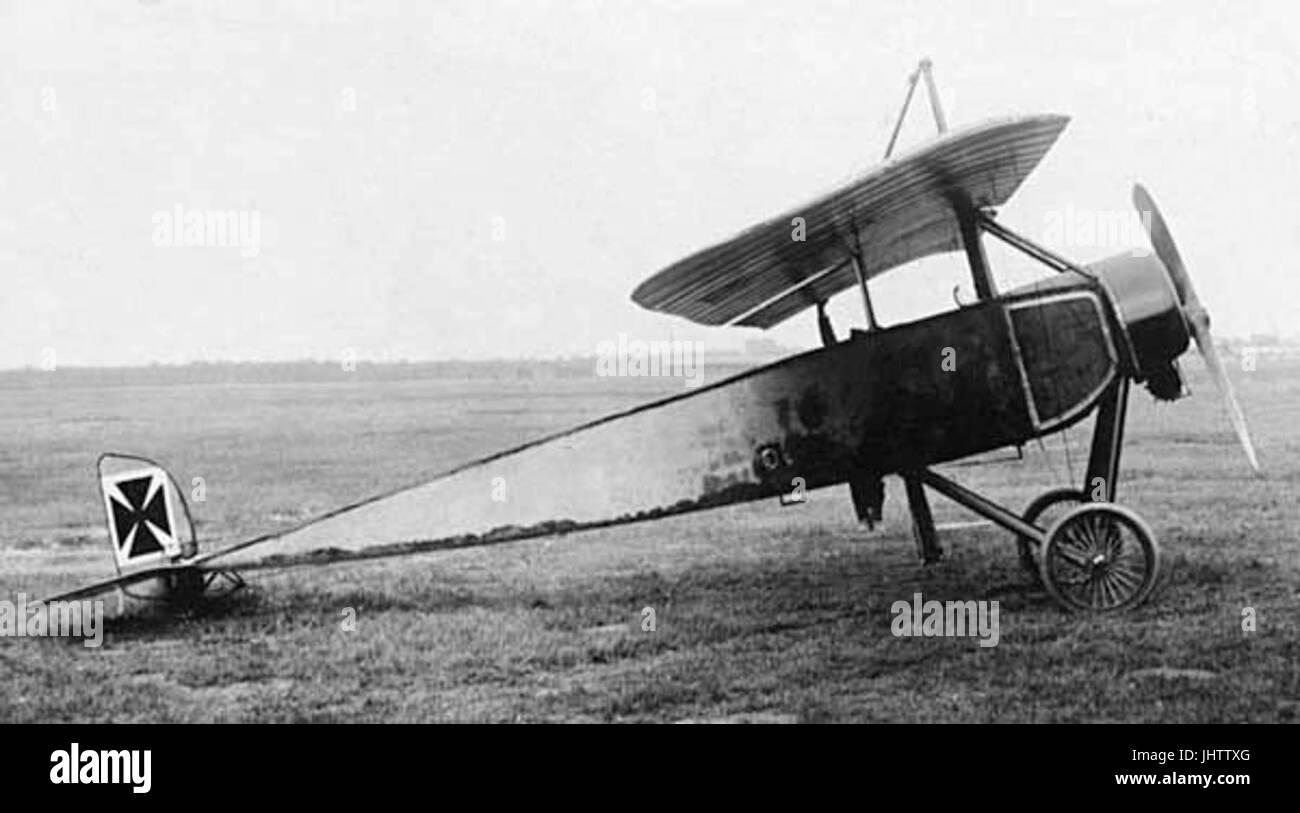 Morane-Saulnier L wire-braced parasol monoplane - Stock Image