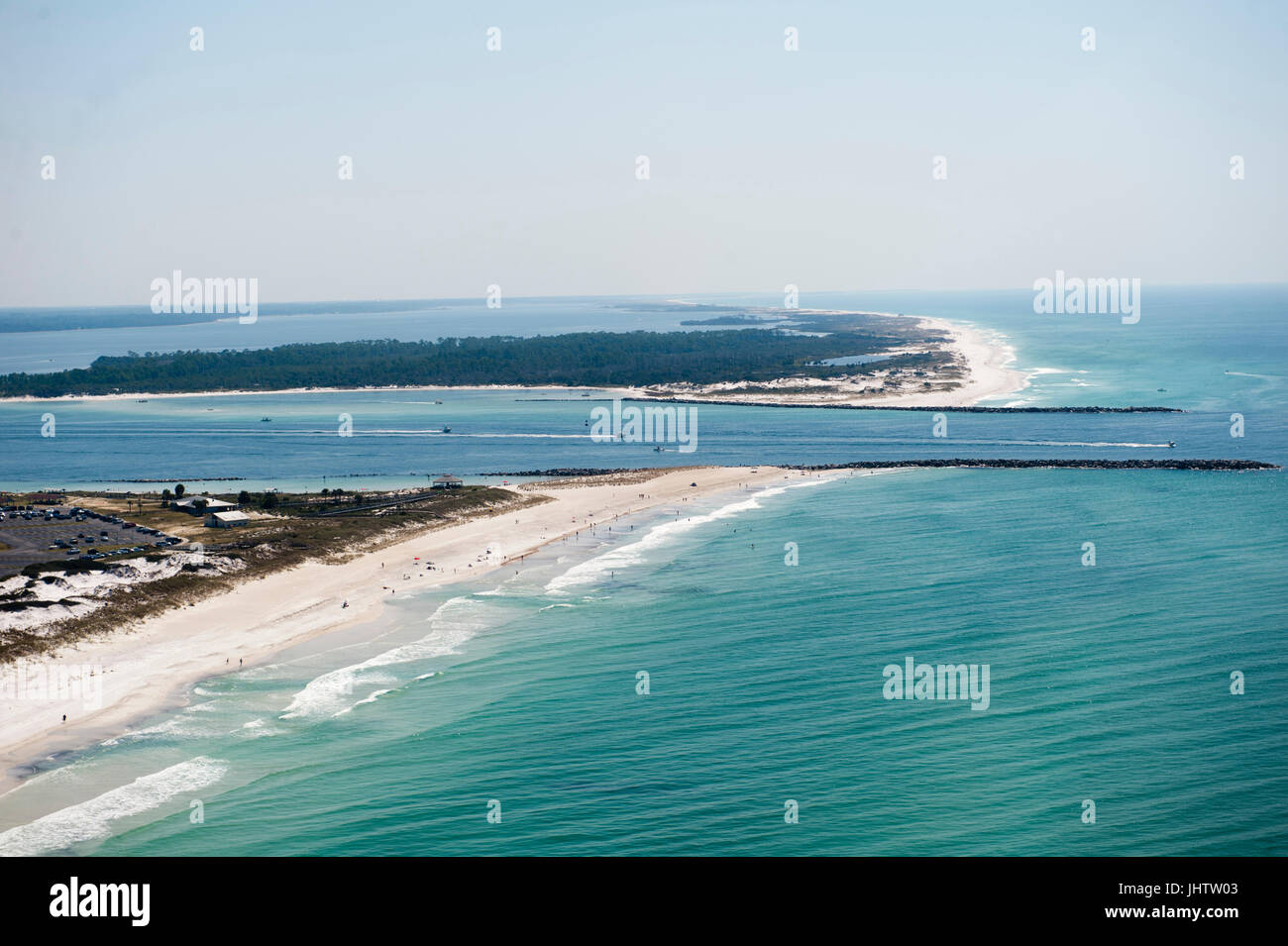 an aerial view of the coastline of panama city beach florida at