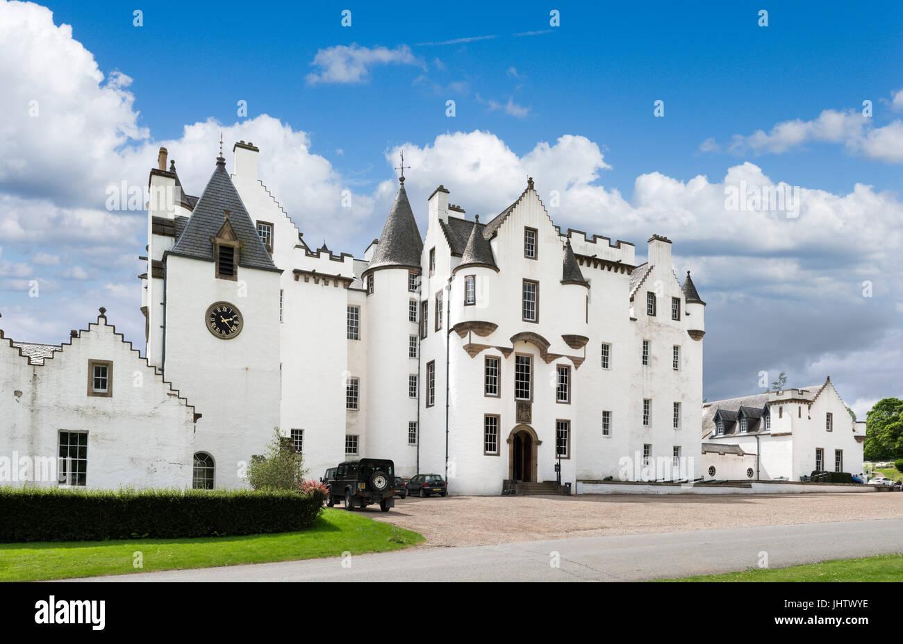 Blair Castle, Blair Atholl, Glen Garry, Perthshire, Scotland, UK - Stock Image