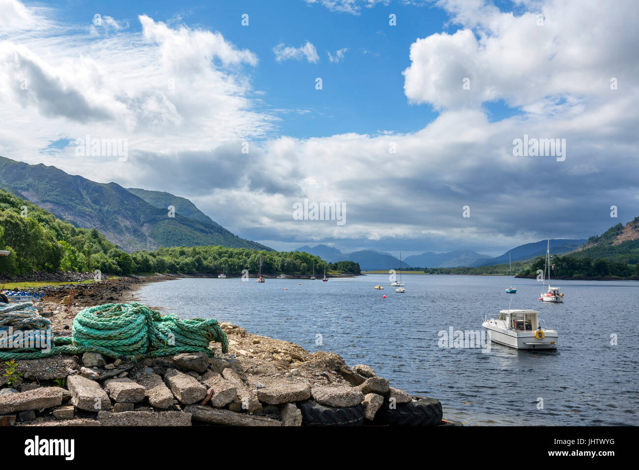Loch Leven (Loch Lyon), a sea loch near the village of Glencoe, Scottish Highlands, Scotland, UK - Stock Image