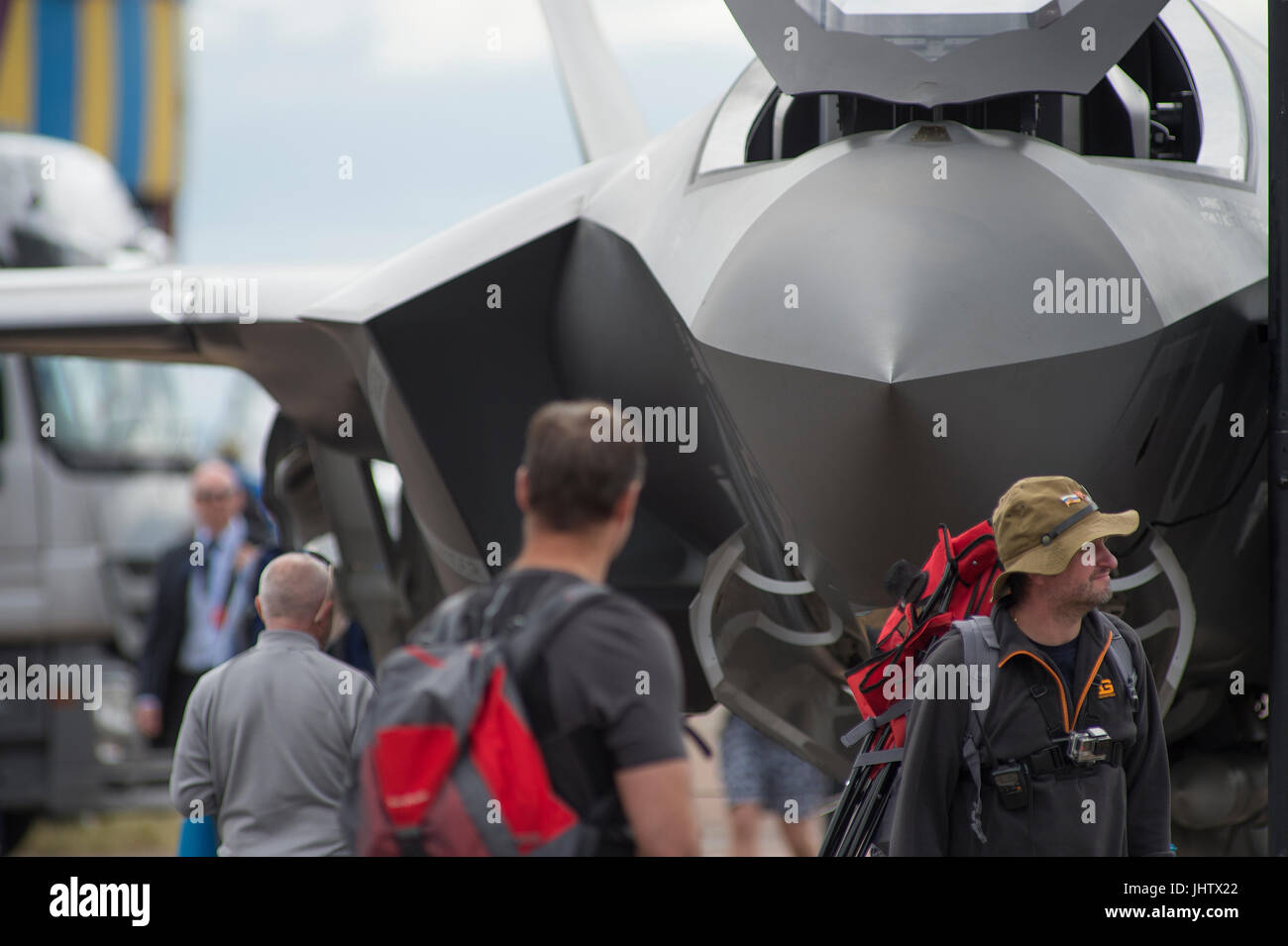 The 2017 Royal International Air Tattoo, RIAT17, RAF Fairford, Gloucestershire, England - one of the world's largest Stock Photo