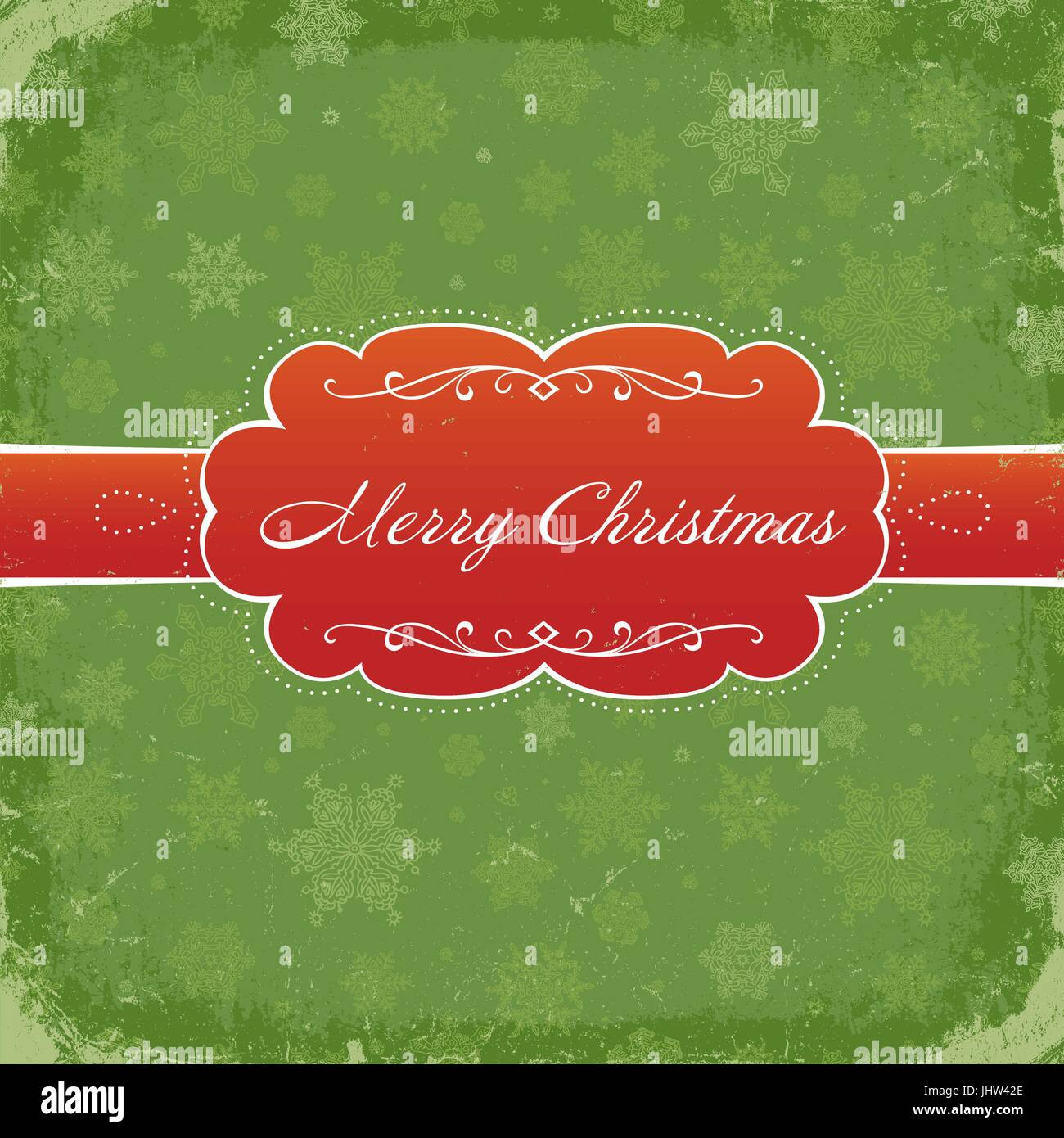 Merry Christmas Grunge Invitation Background. Vector, Eps8. - Stock Vector