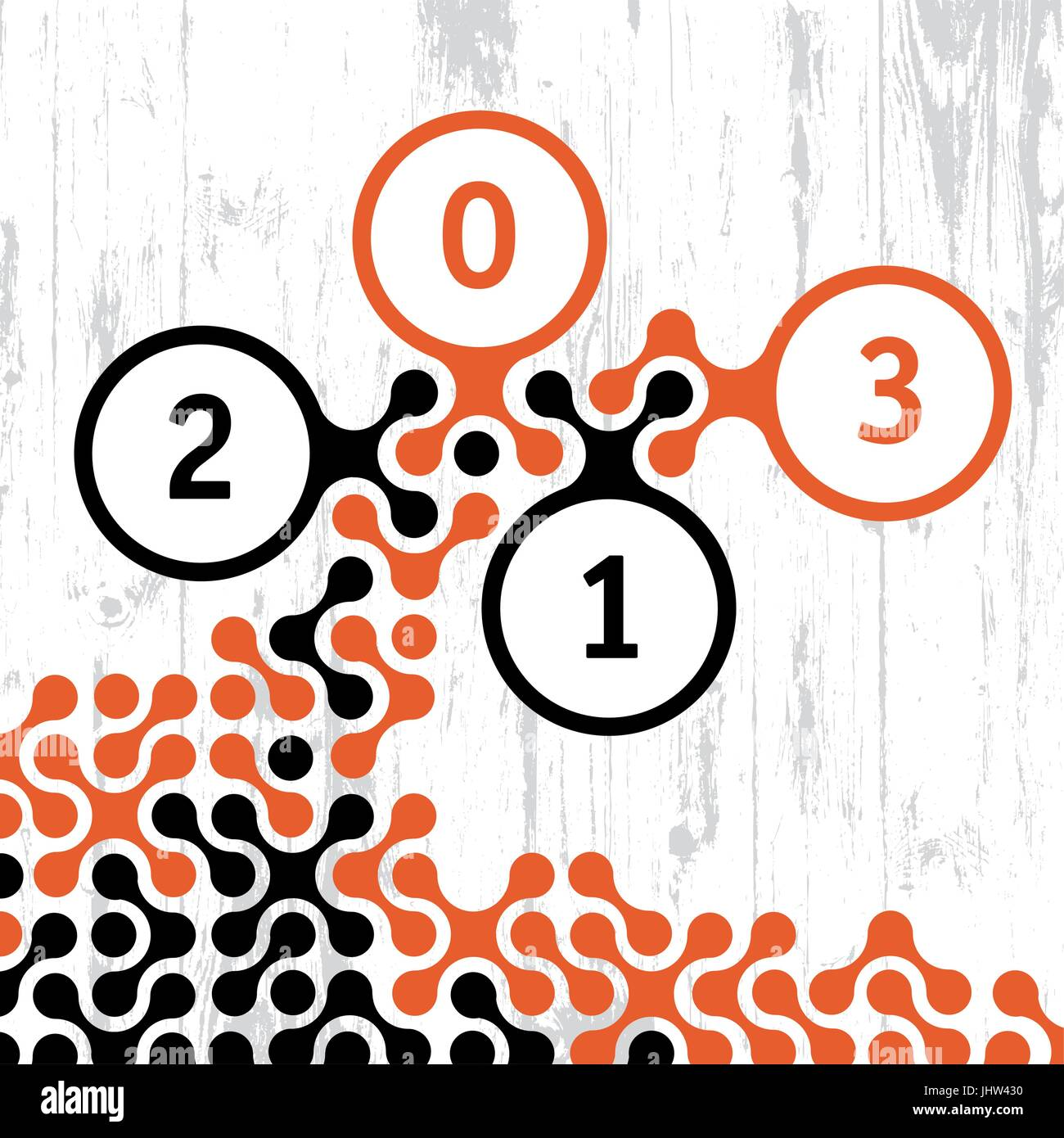 2013 New Year card. Vector, EPS8. Stock Vector