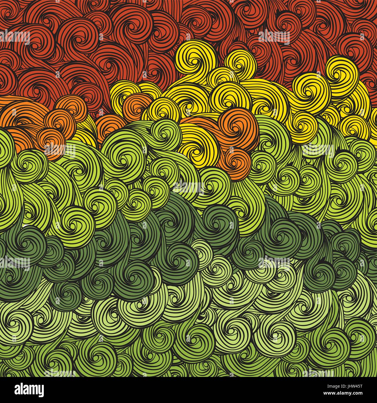 Abstract multi-colored waves pattern. Vector, EPS8 Stock Vector