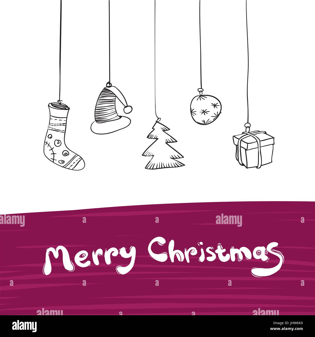 Merry Christmas Gifts Illustration. Vector, Eps8. Stock Vector